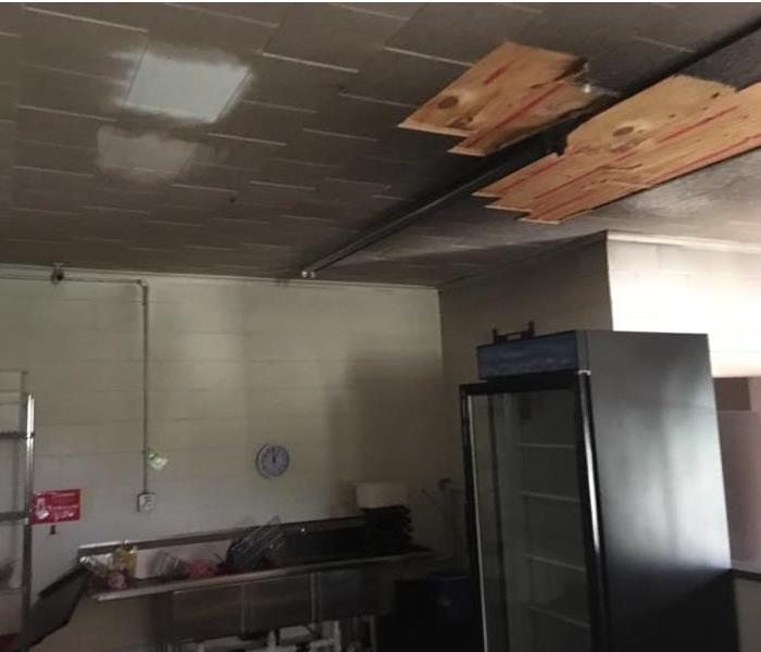 Smoke and Soot damage at local restaurant Before