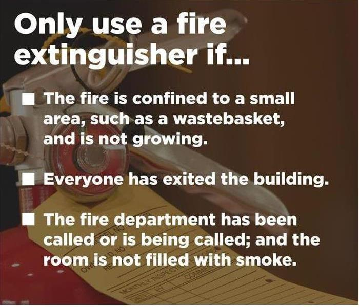 When to Use a Fire Exinguisher